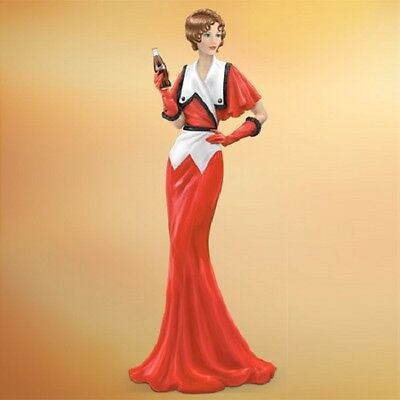 Where there is a Coke - Coca Cola Lady Figurine - Elegance Through Decades