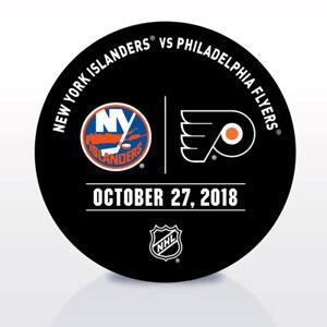 Philadelphia-Flyers-Issued-Unused-Warm-Up-Puck-10-27-18-Vs-New-York-Islanders