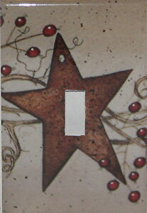 Rusty-Star-Single-Switch-plate-Cover