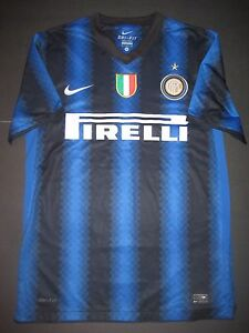 pretty nice 59cf9 e3703 Details about 2010-2011 Nike Inter Milan Internazionale Jersey Shirt Kit  Maglia Calcio Small