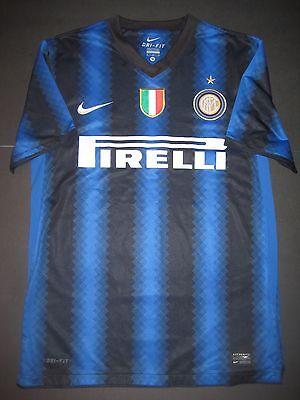 2010 2011 Nike Inter Milan Internazionale Jersey Shirt Kit Maglia Calcio Small Ebay