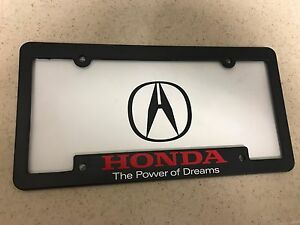 Acura License Plate Frame Honda Power Of Dreams License Plate Frame - Acura license plate