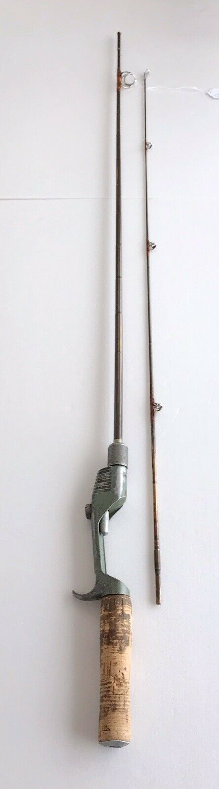 EXTREMELY RARE COLLECTOR ANTIQUE VINTAGE PENROD METAL FISHING ROD 74