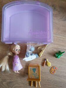 Disney Animator'S Collection Store MINI bambola Playset Rapunzel OTTIME COND