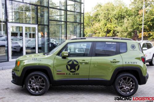 JEEP 2x Big Star US Army Sticker 4x4 Renegade Wrangler Rubicon Willys Military