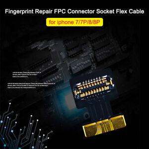 official photos 7e96d 60c96 Details about iPhone 7 7+ 8 8 Plus Fingerprint Repair FPC Connector Flex  Cable Home Button