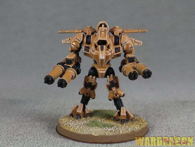 25mm Forgeworld WDS painted TAU  XV9 WITH TWIN-LINKED BURST CANNON a25  incredibili sconti