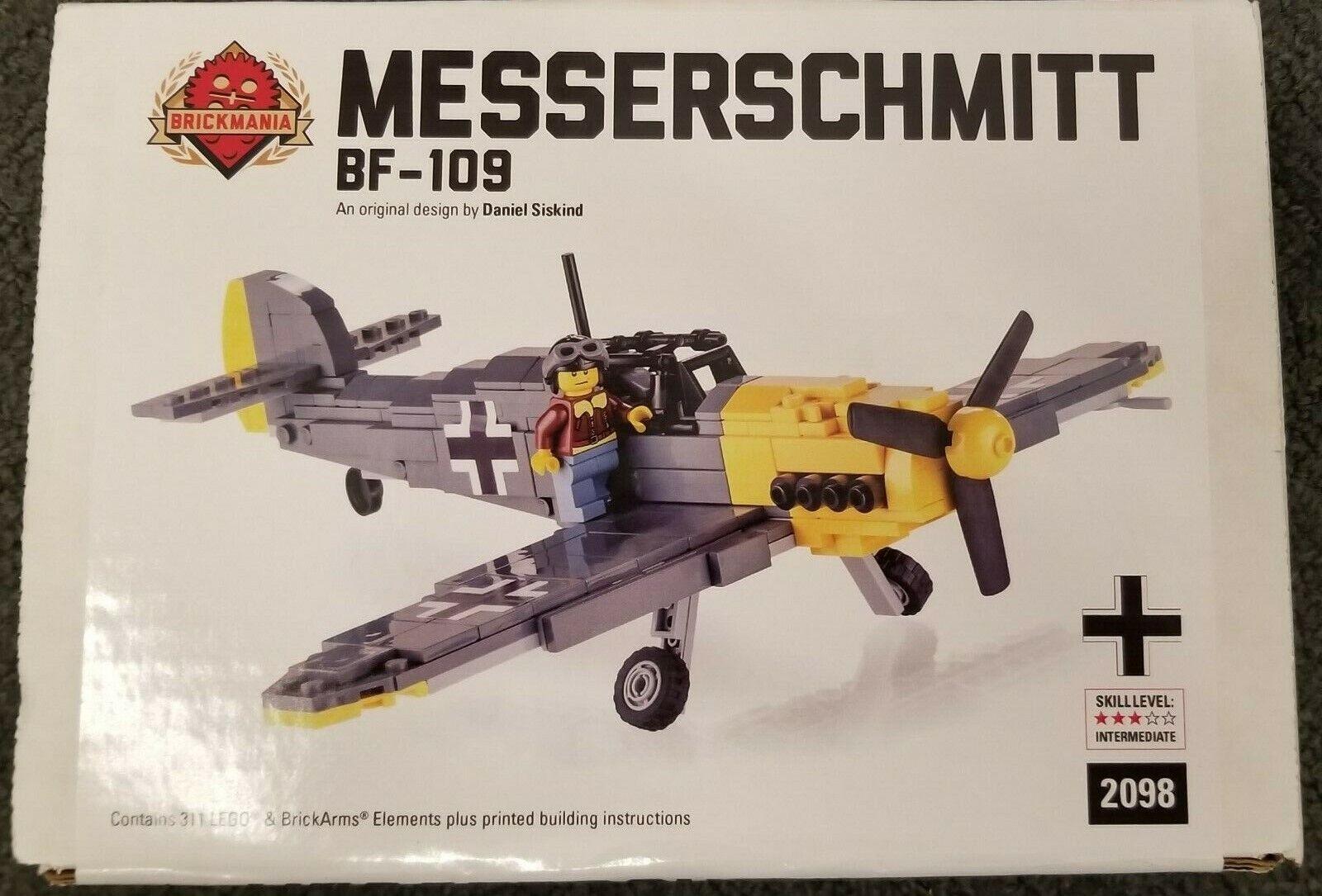 Lego Brickmania Set 2098 Messerschmitt Bf-109 German Fighter Aircraft Ww2