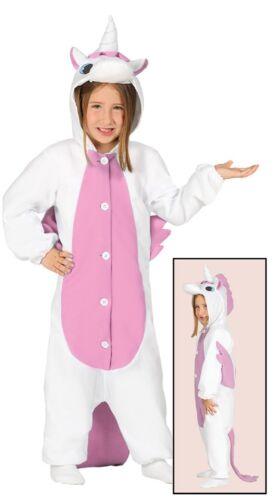 Bambini Bambine Animale Unicorno Rosa Pigiama Book Day Settimana Costume Vestito