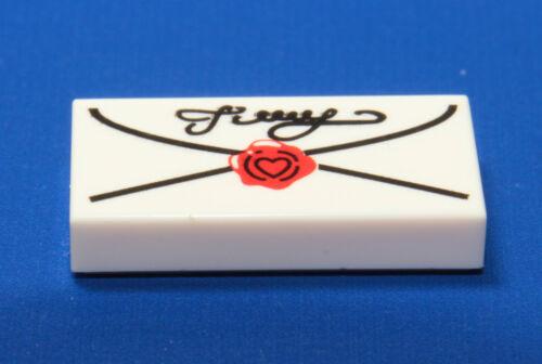 3069bpx40 LEGO ® 1 blanc//white 1x2 Carreau Lettre d/'amour Loveletter Coeur Heart NEUF