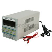 Variable Linear Dc Power Supply,0-30v 0-5a With Alligator Cable & Power Cord