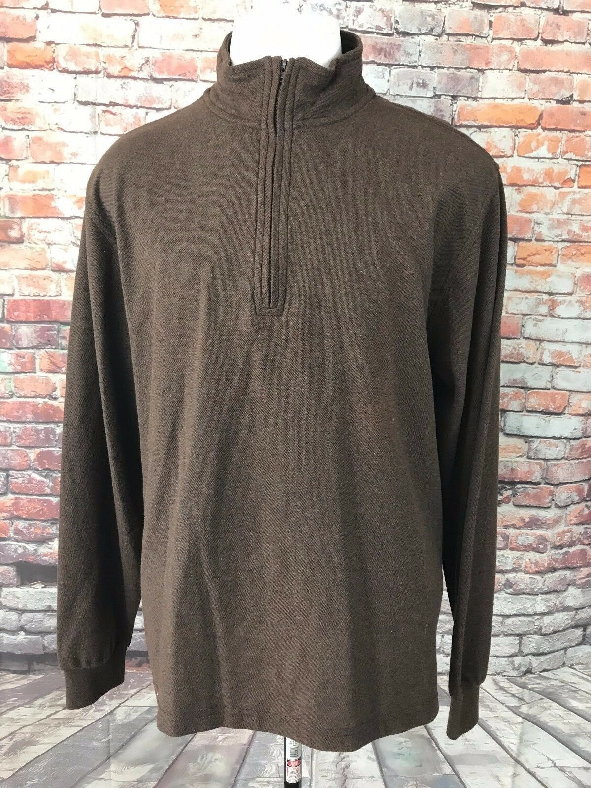 JOS.A.BANK TREVELER PERFORMANCE  Herren COTTON 1/2 ZIP SWEATER SIZE LARGE RET 89.5