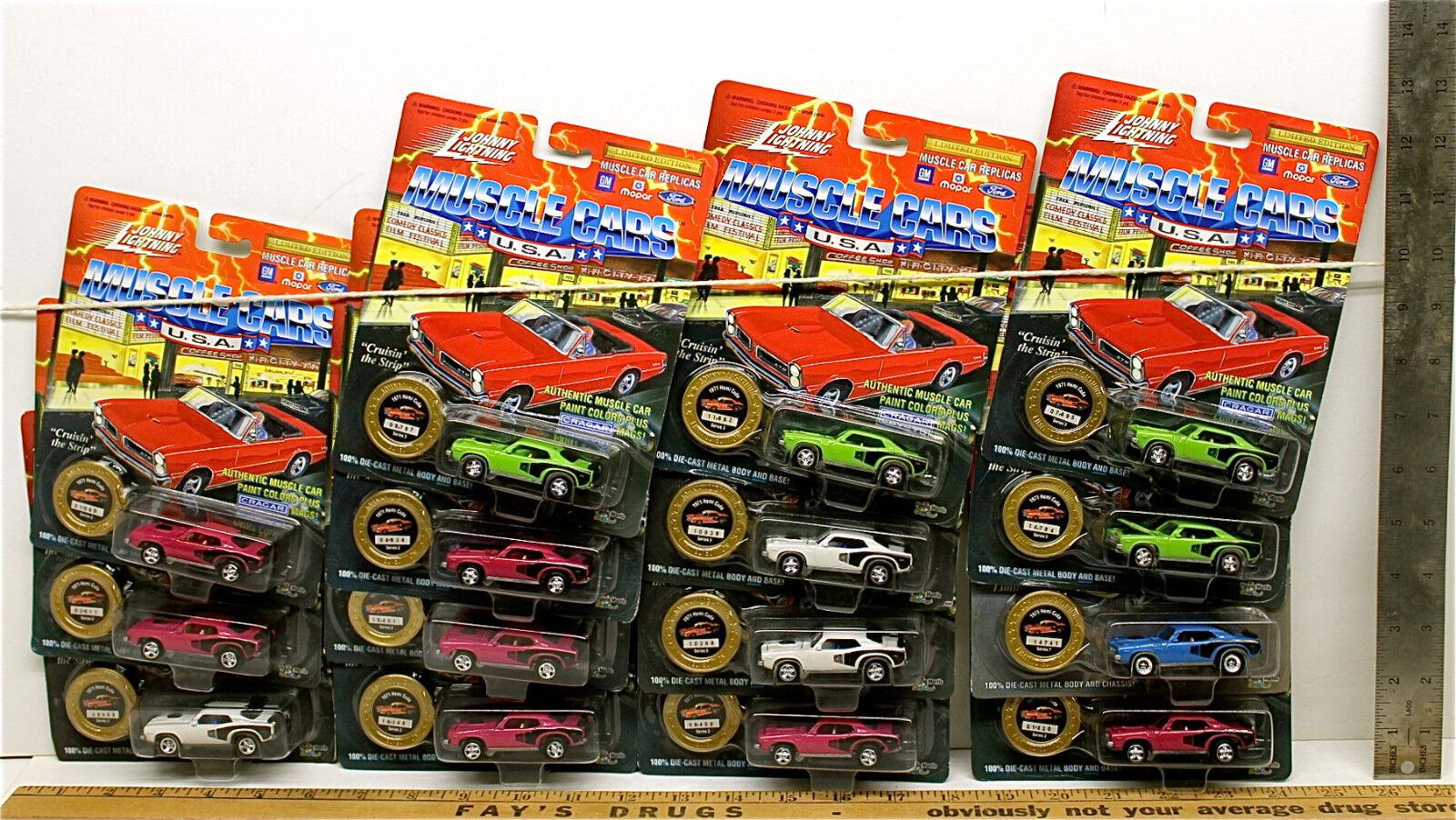 15 Vintage 1994 Johnny Lightning 1971 Hemi Cuda Muscle Cars USA Lot Die Cast NOC