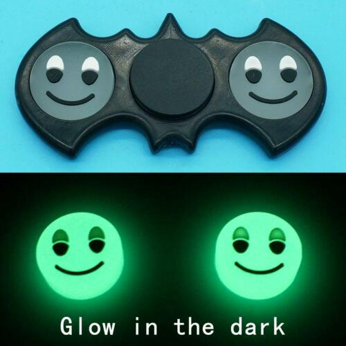 Spinner Fidget Batman Hand Toy Edc Tri Focus Finger Adhd Desk Bat Black Glow