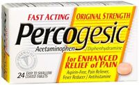 Percogesic Tablets 24 Tablets [acetaminophen/diphenhydramine] (pack Of 5) on Sale