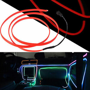 Flexible EL Wire LED Neon Light Glow Rope Tube Car Decorative Light ...