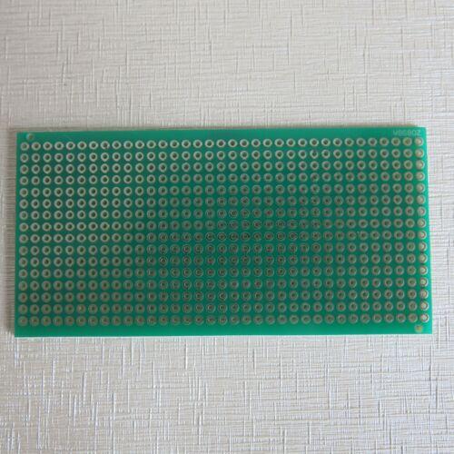 3stk pcb 4.5x9cm 3er Streifenraster Veroboard Lochraster Platine Leiterplatte