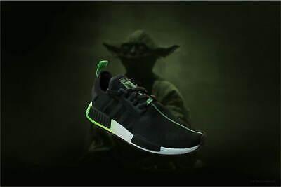 Star Wars X Adidas Nmd R1 Yoda Black Green Mens Sizes Fw3935 Ebay
