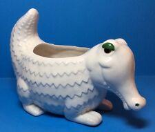 Vtg 1970s Fitz Floyd Alligator Ceramic Planter Dish Whimsy J Adler Style