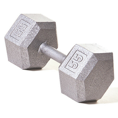Champion Barbell   55 lb Solid Hex Dumbbell (SOLD INDIVIDUALLY)  affordable