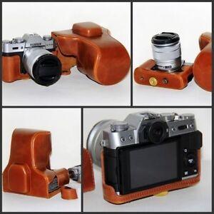 pu leather camera case bag for fujifilm x t10 xt20 16 50. Black Bedroom Furniture Sets. Home Design Ideas