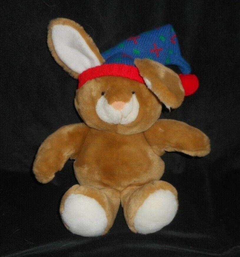 VINTAGE 1990 HEARTLINE HALLMARK BROWN BABY BUNNY RABBIT STUFFED ANIMAL PLUSH TOY