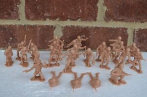 Marx-WWII-Combat-Marines-US-Infantry-1-32-54MM-Toy-Soldiers-Iwo-Jima-Pacific