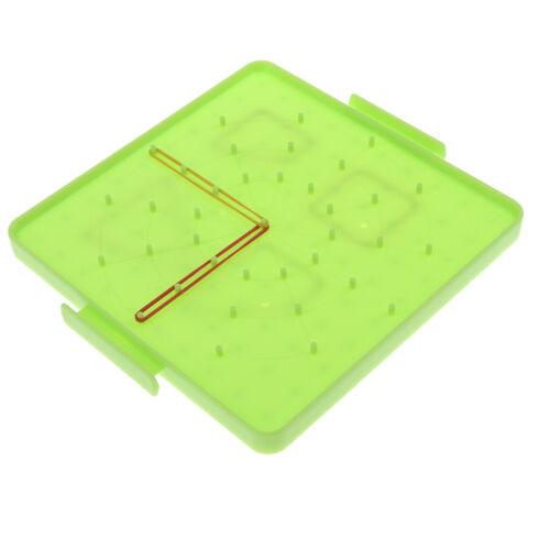 Kinder Mathematik Lernspiel Kunststoff Geobrett Geometriebrett mit