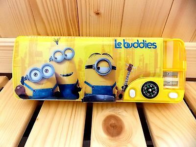 Minions 2-side Multi-function Pencil Case/Box - A - Free Shipping