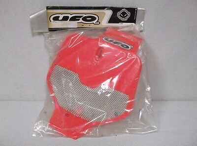 Red UFO Plastics Vented Front Number Plate for 1992 to 1999 Honda Dirt Bike