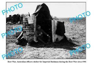 OLD-LARGE-PHOTO-AUSTRALIAN-OFFICERS-SHELTER-BOER-WAR-1901