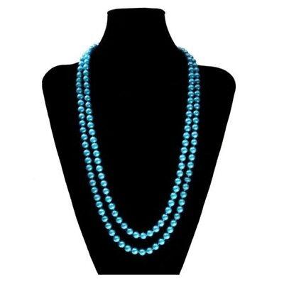 d77c942619c7 Una Dulce Collar de Perlas Muchos Colores XXL Largos Corta Rosa Azul Crema