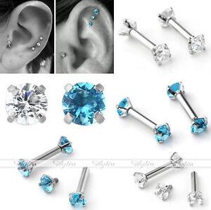 CZ-Gem-Steel-16G-Barbell-Ear-Cartilage-Tragus-Helix-Stud-Earring-Body-Piercing