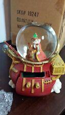 Disney Peter pan Snow Globe Watch set Ship Tinkerbell Figure New 1999 edition