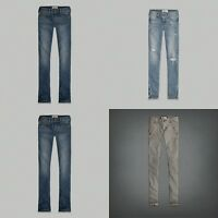 Abercrombie Kids Girls Jeans Pants Size 14 16 Brown Blue Destroyed