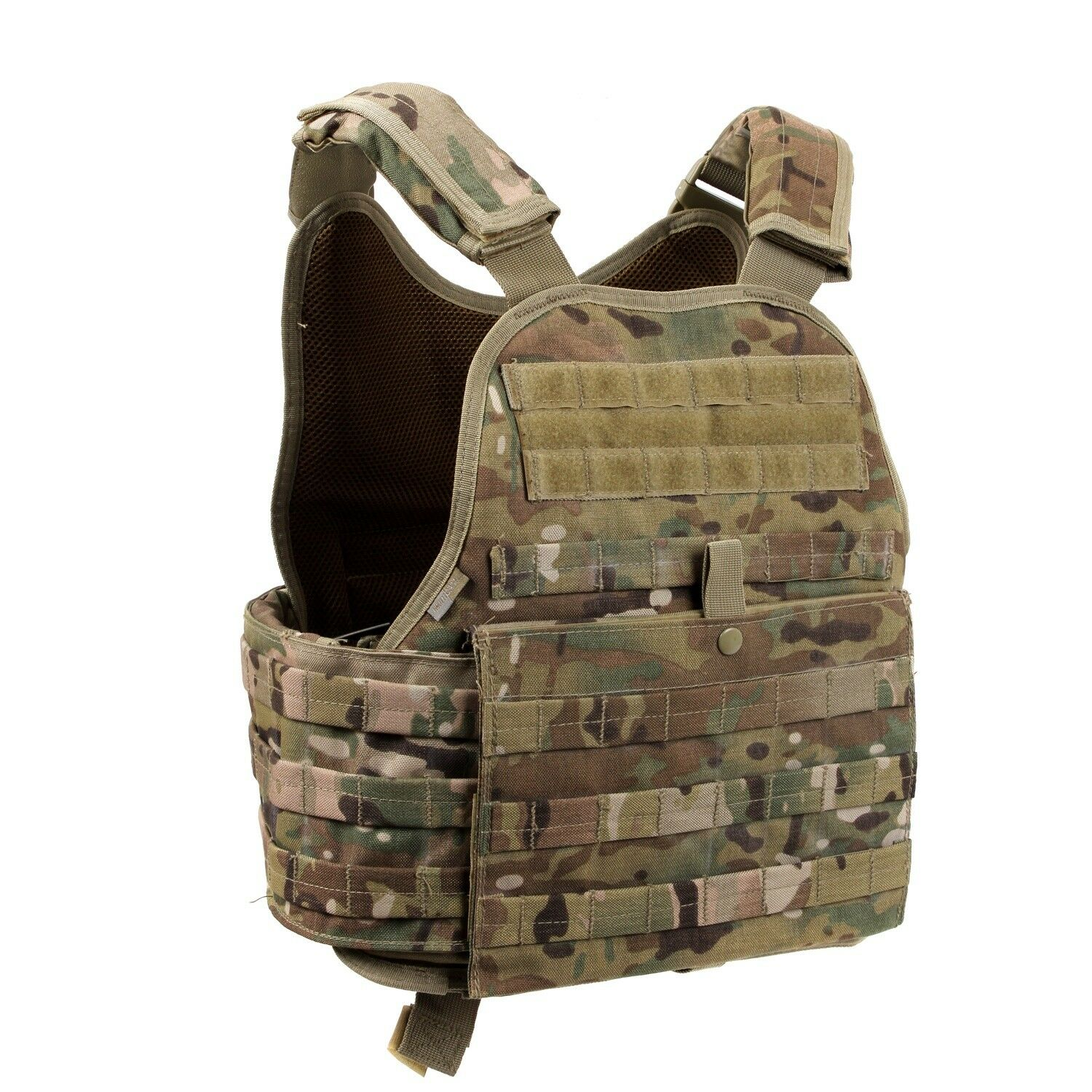 OverGrößed Multi Camo Military MOLLE Tactical Plate Carrier Assault Vest 1924