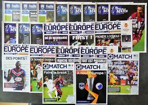 1 Programme Collection Football Girondins De Bordeaux En Coupe D'europe Saveur Aromatique