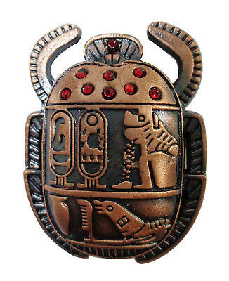 "201 1 antique Scarab handmade pharaoh hieroglyphic paperweight Statue 1.4/"""