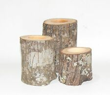 6  Rustic Tree Branch Log Candle Holders Rustic Weddings, Cabin, Country Decor