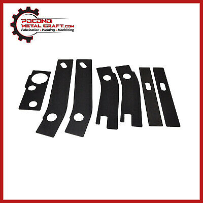 syhyen 7 pc Frame Repair Rusted Shackle Weld Plate fit for Jeep Wrangler YJ Rear 1986-1995