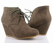 209914bfc2a item 7 Sexy Wedge Cute Booties Ankle Lace Up Shoes Faux Suede Heels Boots  Size 5.5 - 10 -Sexy Wedge Cute Booties Ankle Lace Up Shoes Faux Suede Heels  Boots ...