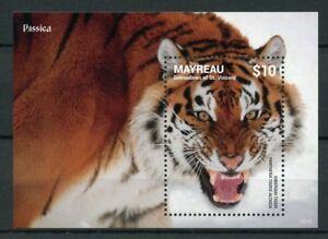 Mayreau Gren St Vincent 2014 Neuf Sans Charnière Siberian Tigers Rossica 1 V S/s Animaux Timbres