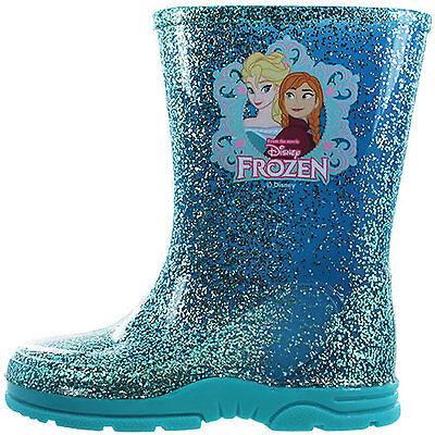 Chicas Del Niño Disney Frozen Elsa Anna Invierno más Zapatos Botas Azul Talla 6-12