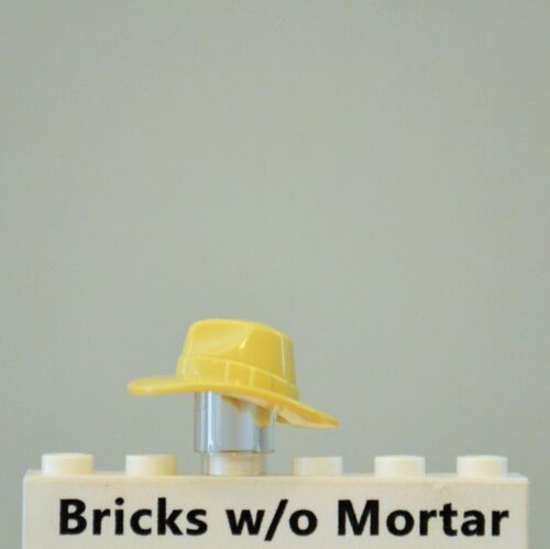 New Genuine LEGO Tan Fedora Hat Outback Cowboy Minifig
