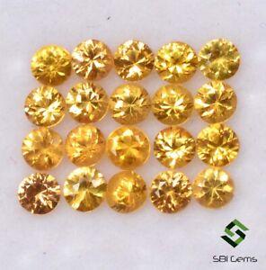 1-51-Cts-Natural-Yellow-Sapphire-Round-Diamond-Cut-2-50-mm-Lot-20-Pcs-Gemstones