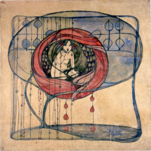 Girl in a Tree Frances Macdonald Painting Art A0 A1 A2 A3 A4 Photo Poster
