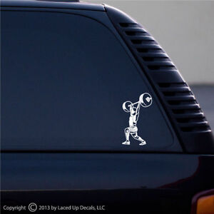 Womens Olympic Lifting Snatch Vinyl Decal Large Decals & Bumper Stickers