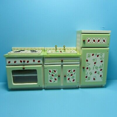Dollhouse Miniature Complete Modern Kitchen Set in White ~ T5533