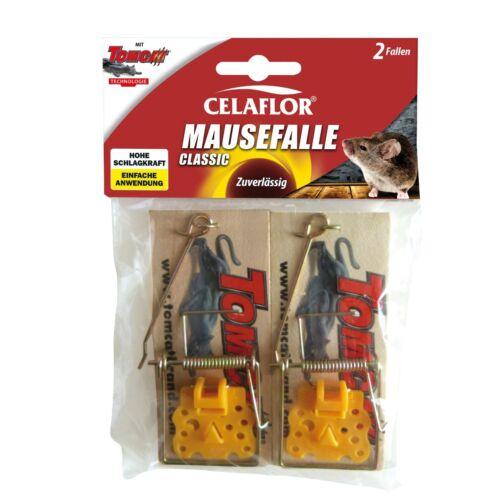 Celaflor Mausefalle Classic Tomcat Falle Maus Mäusefalle Holzfalle 2 Stück