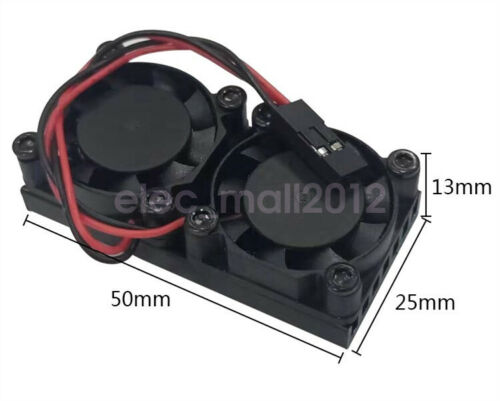 New Cooling Heat sink With Dual Fan For Raspberry Pi 4 Model B 3B+